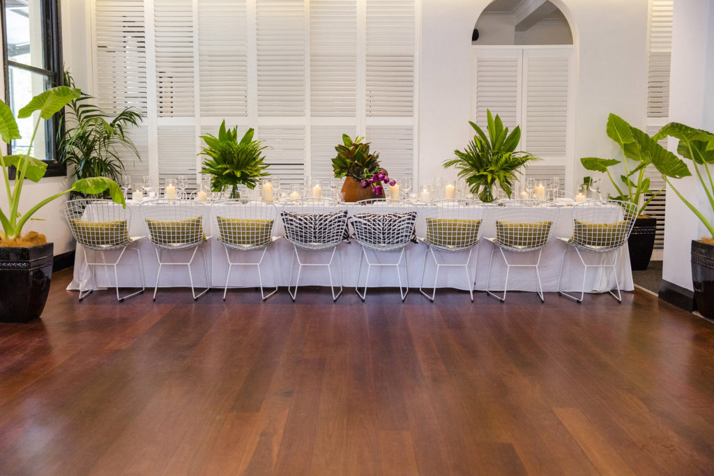 Port Office Hotel Colonial Bar – Brisbane Wedding Venue – Bridal Party Table and Dance Floor